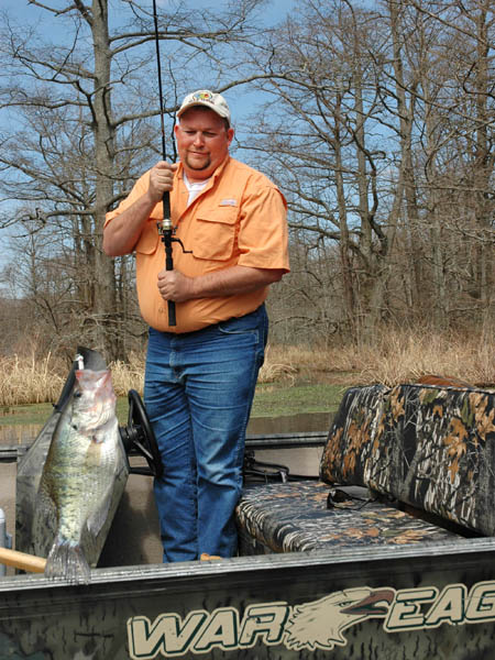 Billy blakely of reelfoot lake on hot weather fishing and for How to fish for crappie from the bank