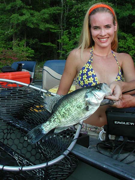 Hot weather crappie fishing for Best weather for fishing